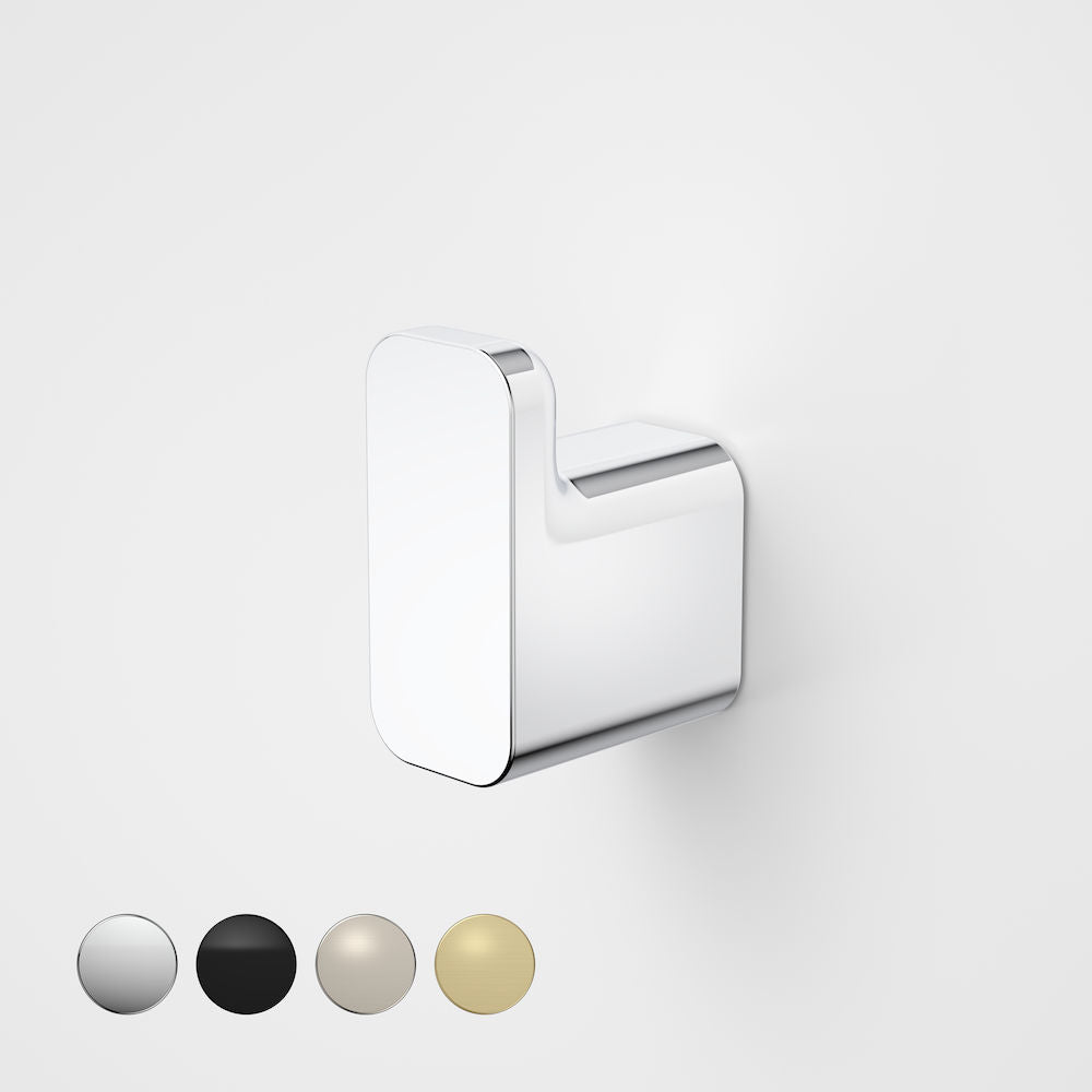 Caroma Luna Robe Hook in Chrome, Caroma bathroom acceessories