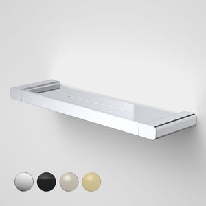 Caroma Luna metal bathroom shelf  in Chrome, Caroma bathroom acceessories