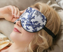Load image into Gallery viewer, Genuine Silk Eye Shades <br>Blue Floral