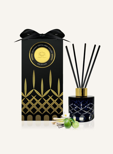 Luxury Reed Diffuser in crystal - Persion Lime and Lemongrass gift