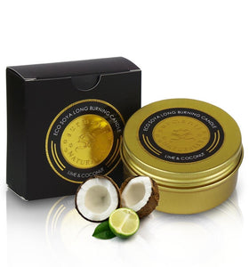 Luxury gift box, Surmanti Pamper box, Lime and Coconut travel candle