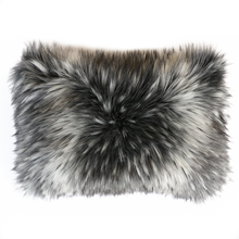 Load image into Gallery viewer, Luxury imitation fur cushion , Alaskan Wolf by Heirloom for New Zealand interiors