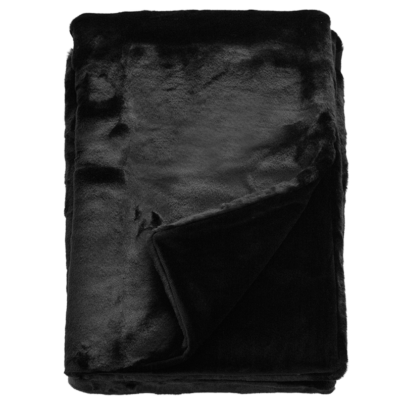 Luxury Imitation Fur Throw<br>Black Panther