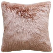 Load image into Gallery viewer, Luxury Imitation Fur Cushion<br>Pink Peony Plume