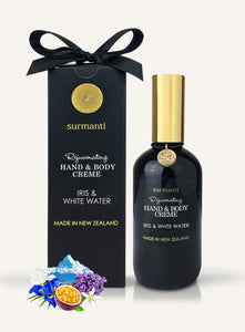 Luxury gift box, Surmanti with hand and body cream  in Iris and White Water