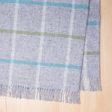 Load image into Gallery viewer, 100% wool checked throw in grey - Hastings throw in Fog from Weave Home