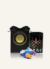Load image into Gallery viewer, Luxury gift box, Surmanti with crystal candle in Iris and White Water