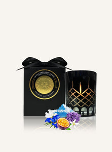 Luxury gift box, Surmanti with crystal candle in Iris and White Water