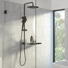 Load image into Gallery viewer, Caroma Luna Overhead Rail Shower in Black