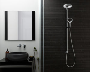 Methven Aio Shower System and wall mounted spout in Chrome