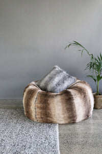 Plush Pod luxury bean bags in imitation fur