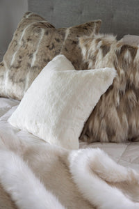 Luxury imitation fur cushion ,  Polar Bear by Heirloom for New Zealand interiors
