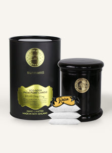 Surmanti Luxury Relax, Sleep Easy Aromatherapy Candle in black glass