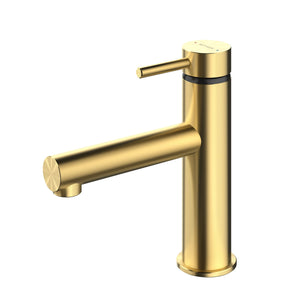 Methven Turoa Brushed Gold Basin Mixer TUBGD