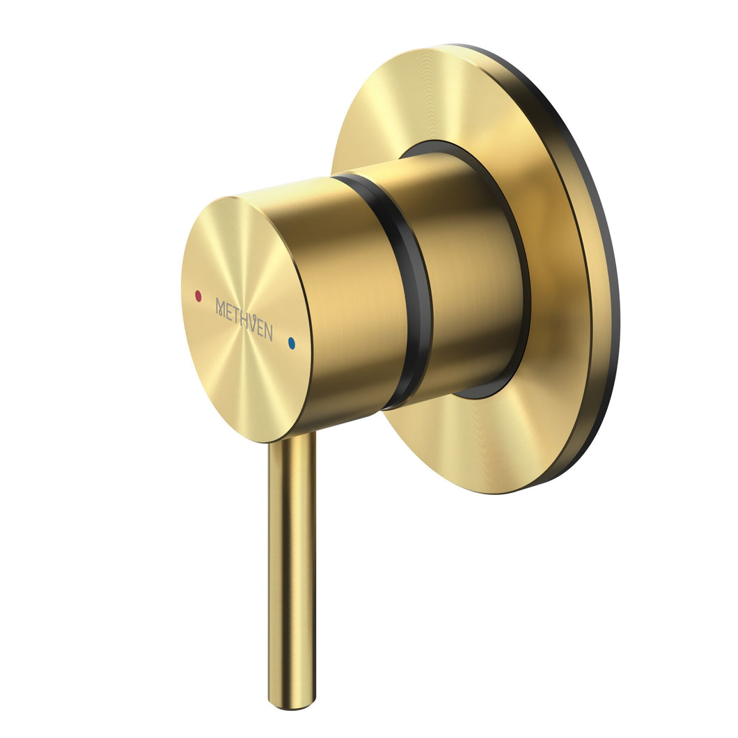 Methven Turoa Shower Mixer in Brushed Gold TUHPSGD for spa like bathrooms