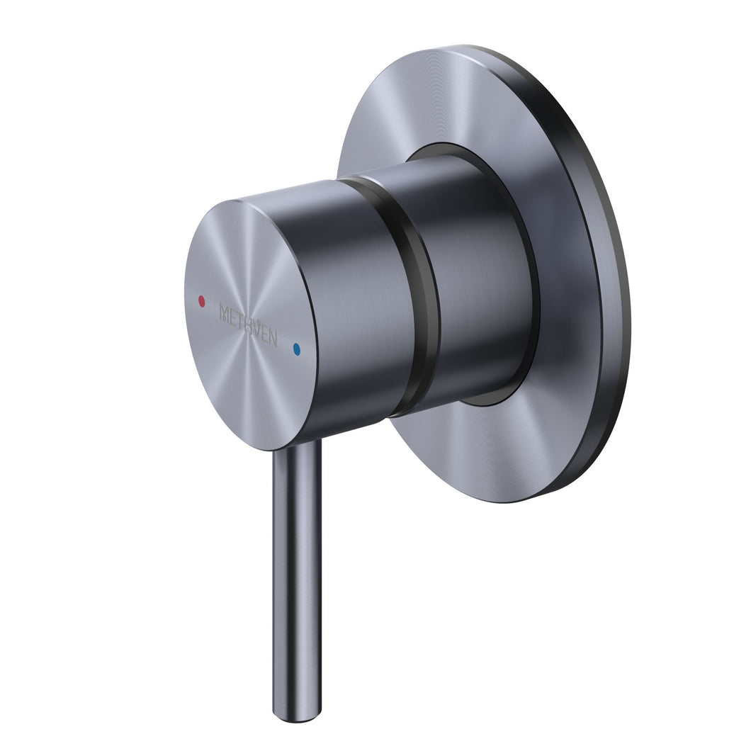 Methven Turoa Shower Mixer in Brushed Graphite TUHPSGR for spa like bathrooms