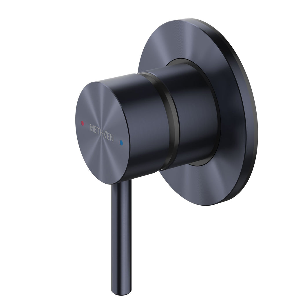 Methven Turoa Shower Mixer in Brushed Gunmetal TUHPSGM for spa like bathrooms