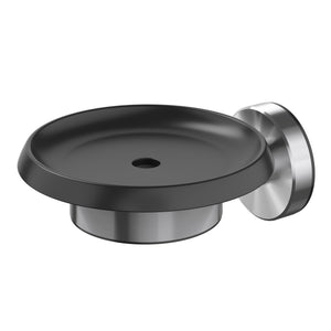 Methven Turoa soap dish brushed graphite and stainless steel