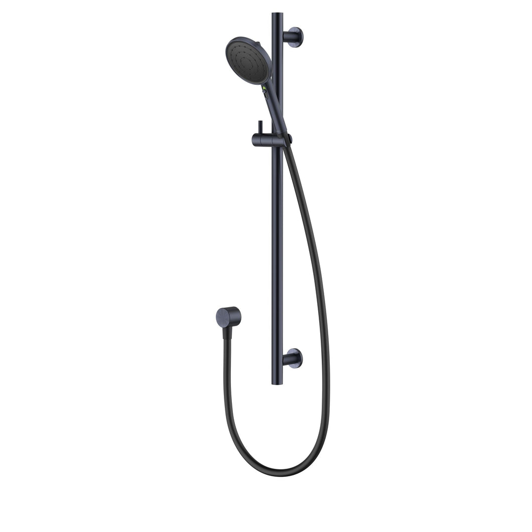 Methven Turoa Rail Shower Brushed Gun Metal Black TUSRSGM VJET Technology