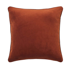VelvetCushion Copper - rust coloured velvet cushion for NZ Home Interiors