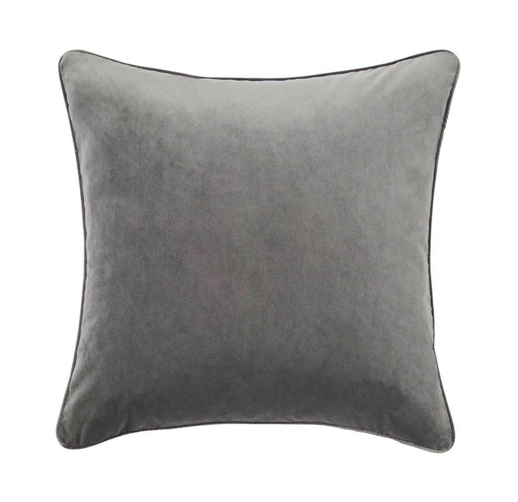 Cushion Flint - blue grey velvet cushion for NZ Home Interiors