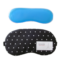 Load image into Gallery viewer, Cotton gel eye masks for heat and cold relief with elasticated band