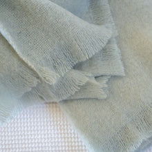 Load image into Gallery viewer, Luxury pure mohair throw in mint light green.  Mohair NZ available at My Sanctuary