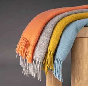 100% New Zealand Wool Throw in bright colour from Weave for New Zealand interiors