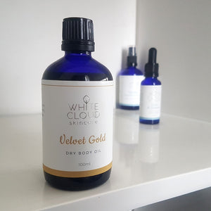 White Cloud<br>Velvet Dry Body Oil<br>With Bio Glitter