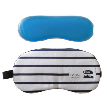 Cotton gel eye masks for heat and cold relief with elasticated band