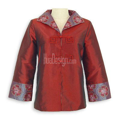 Maroon Oriental Beauty Jacket
