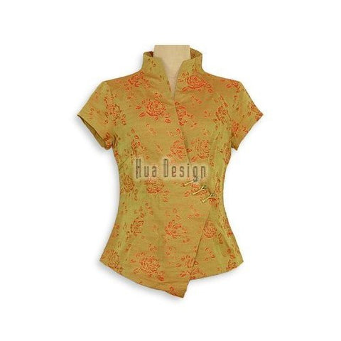 Charming Roses Chinese Blouse