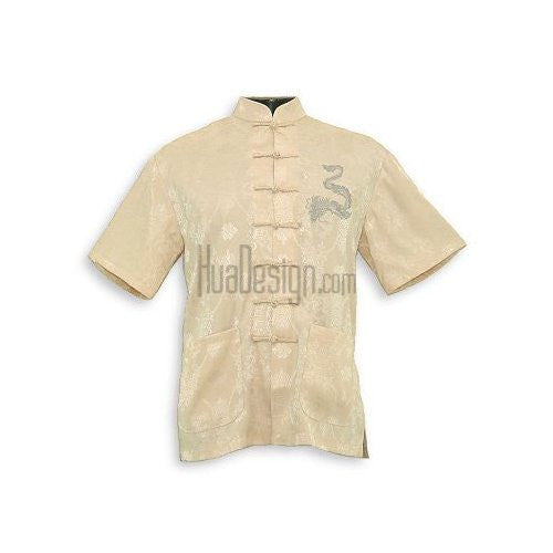Beige Prosperous Dragon Shirt