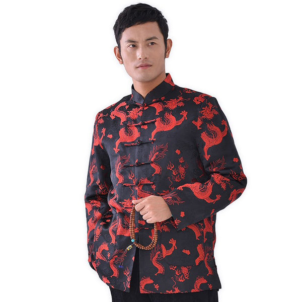 Brocade Dragon Coat (Black)