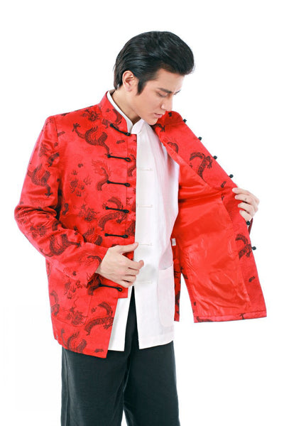 Brocade Dragon Coat (Red)