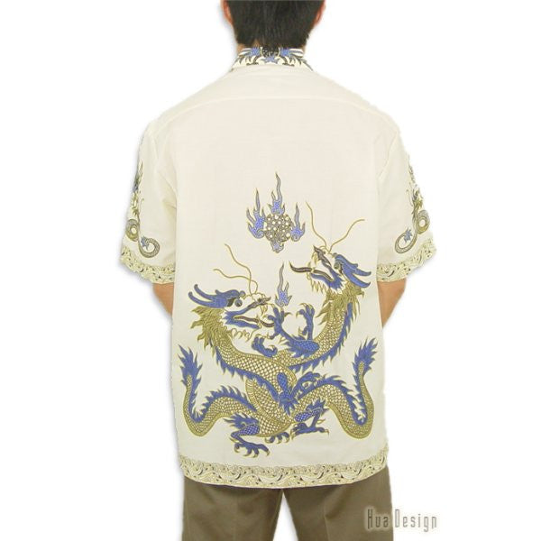 Men's Vintage Dragon Shirt (Back)