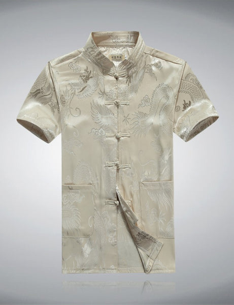 Chinese Dragon Shirt (Beige)