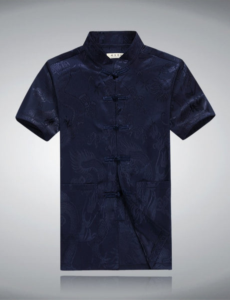 Chinese Dragon Shirt (Blue)