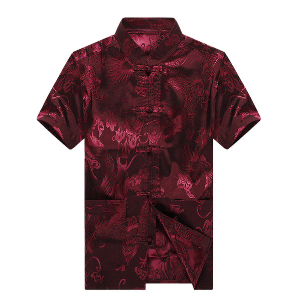 Chinese Dragon Shirt (Maroon)