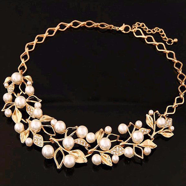 Necklace (Pearly Leaves)