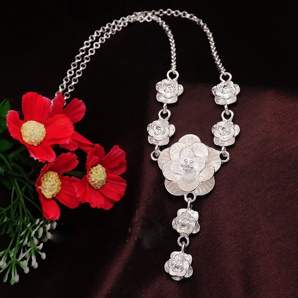 Necklace (Silver Flora)