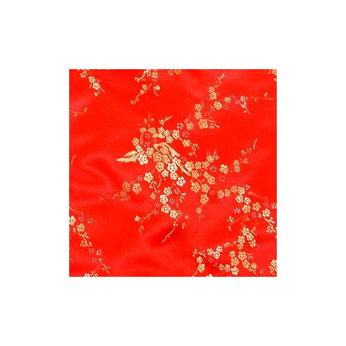 Red Girls Cherry Blossom Cheongsam (Close-up)