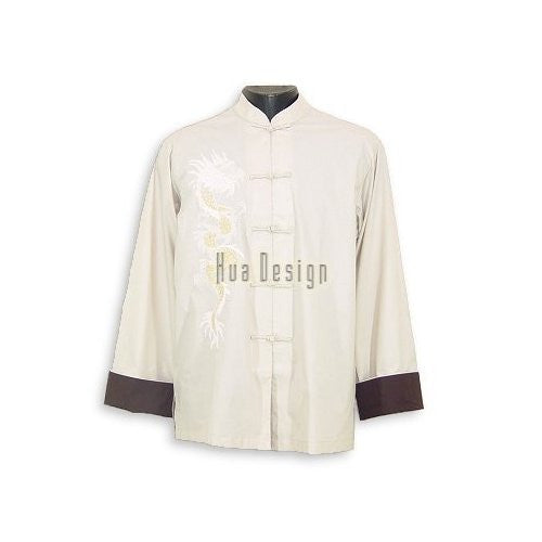 Beige Aspiring Dragon Shirt (Long Sleeves)