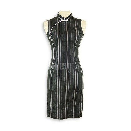 Striped Mandarin Cheongsam