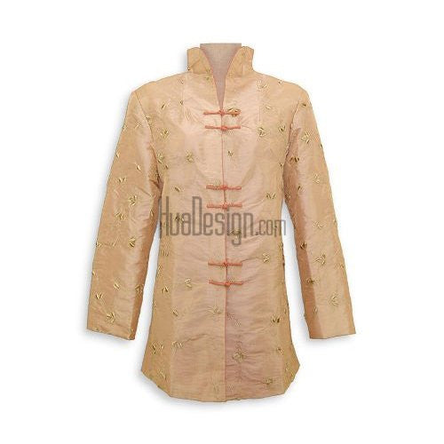Tan Evening Blossom Long Jacket