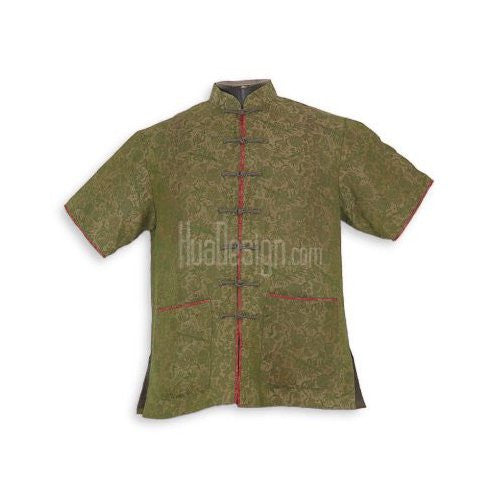 Green Blissful Mandarin Shirt