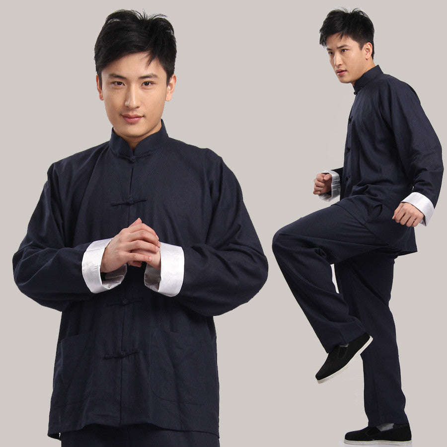Cotton Kung Fu Suit (Blue)