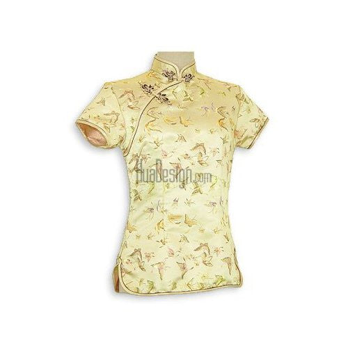 Gold Butterfly Brocade Blouse