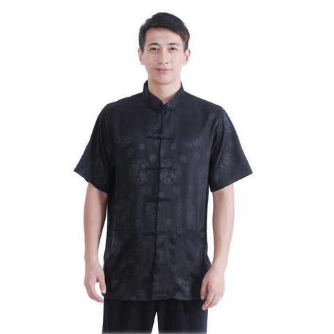 Black Men's Dragon Shirt M03