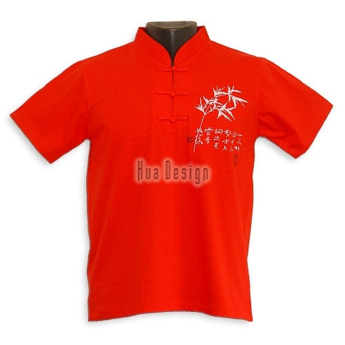 Red Men's Bamboo Jersey Shirt